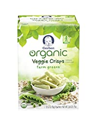 Gerber Graduates Organic Veggie Crisps, Green, 5 Count (Pack of 2) BOBEBE Online Baby Store From New York to Miami and Los Angeles