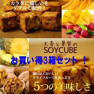 大麦と果実のソイキューブ 800g(200g×4袋)(お買い得3箱セット) B00NV4OSIC