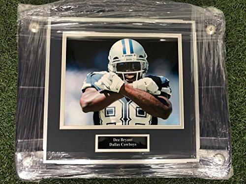 (Dallas Cowboys Dez Bryant #88 Framed on a Texas Stadium Seat Bottom)