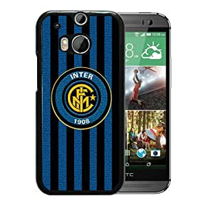 New Fashion Custom Designed Skin Case For HTC ONE M8 With Inter Milan Black Phone Case 2