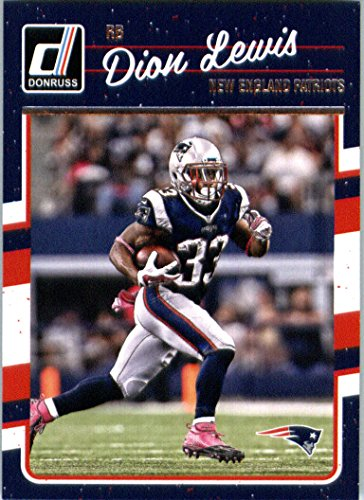 2016 Donruss  181 Dion Lewis New England Patriots Football Card In Protective Screwdown Display Case