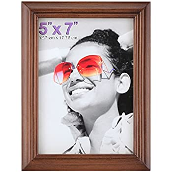 Amazon Americanflat 5x7 Inch Brown Picture Frame With Easel