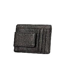 ETIAL Mens Womens RFID Blocking Genuine Leather Safe Wallet Card Case Money Clip