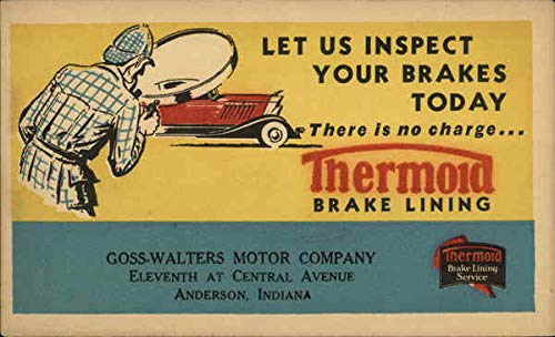 Vintage Advertising Postcard: Advertising - Thermoid Brake Lining