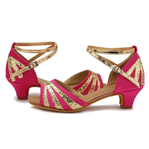 Zapatos Salsa Mujeres Rosa 1 Performance Esxgg De amp;niña Latinos Danza Zapatillas Salón Baile Ykxlm modelo Calzado Tango UgqBESywx