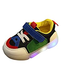 Anxinke Little Boys Girls Casual LED Lighting Athletic Shoes