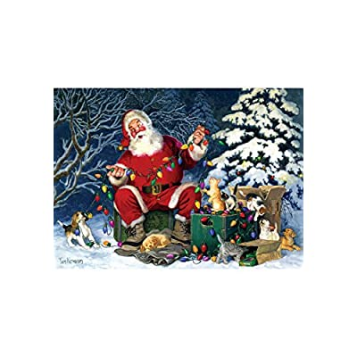 Cobblehill 85013 500 Pc Santa S Little Helper Puzzle Vari