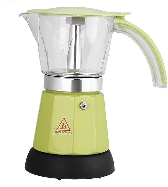 Cafetera eléctrica, 300 ml / 6 tazas de café exprés de aleación de ...