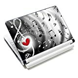 "iColor Laptop Skin Sticker Soft Vinyl Sticker Decal Cover for 12"" 13"" 13.3"" 14"" 15"" 15.4"" 15.6"" Sony HP Asus Acer Toshiba Dell Notebook Music Note"
