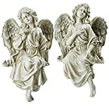 Northlight Set of 2 Decorative Sitting Angel Outdoor Garden Statues 14