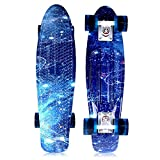 Solomone Cavalli Retro Skateboards Mini Board Penny Style Design Complete 22' Plastic Cruiser Board