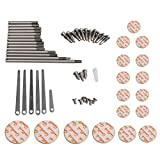 BQLZR DIY Clarinet Repair Tool Kit Maintenance Parts Spindle Pad Spring Leaf Screws Sound Hole Mate Kit Type B