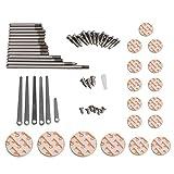 BQLZR DIY Clarinet Repair Tool Kit Maintenance Parts Spindle Pad Spring Leaf Screws Sound Hole Mate Kit Type B
