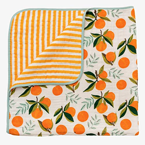 Clementine Reversible Quilt Cotton Muslin for Baby ()