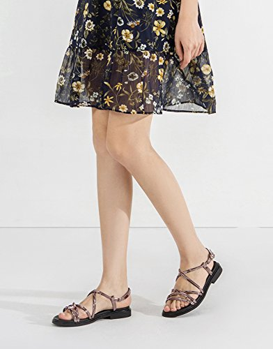 basso Grigio basso 37 tacco Tacchi DHG casual con donna alti alla Sandali Sandali estivi Pantofole tacco piatti Sandali da a moda ORwaHqrTOc