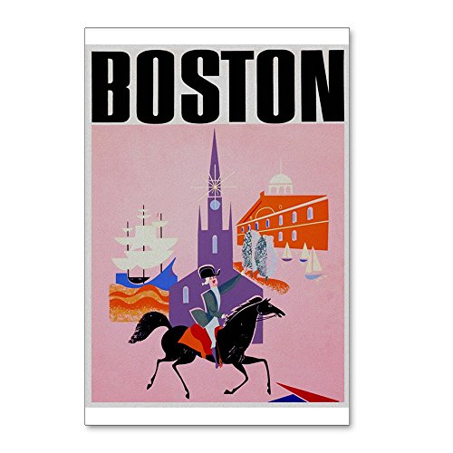 CafePress - Vintage Boston MA Travel - Postcards (Package of 8), 6