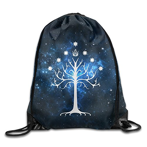 Lord Of The Rings – Tree Of Gondor Drawstring Backpack Bag White