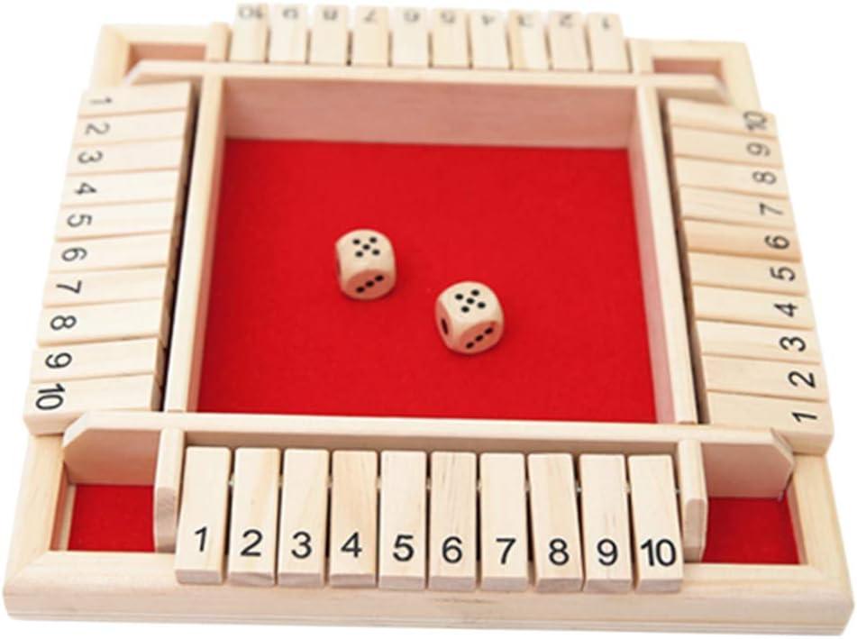 perfeclan Shut The Box Juego De Juego Madera Madera Número Diversión Juegos De Beber Dados: Amazon.es: Juguetes y juegos