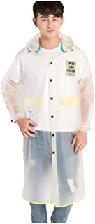 DUHUI Chubasquero/Poncho Impermeable Poncho de Moda Coreano Portátil Adulto Adulto Hombres y Mujeres A Pie Montado al Aire Libre Único Turista Pareja Conjuntos