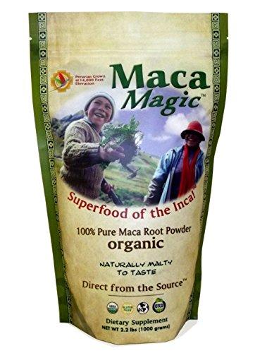 Maca Magic 100 Percent Pure USDA Organic Maca Root Powder in Resealable Bag (2.2 LBS)