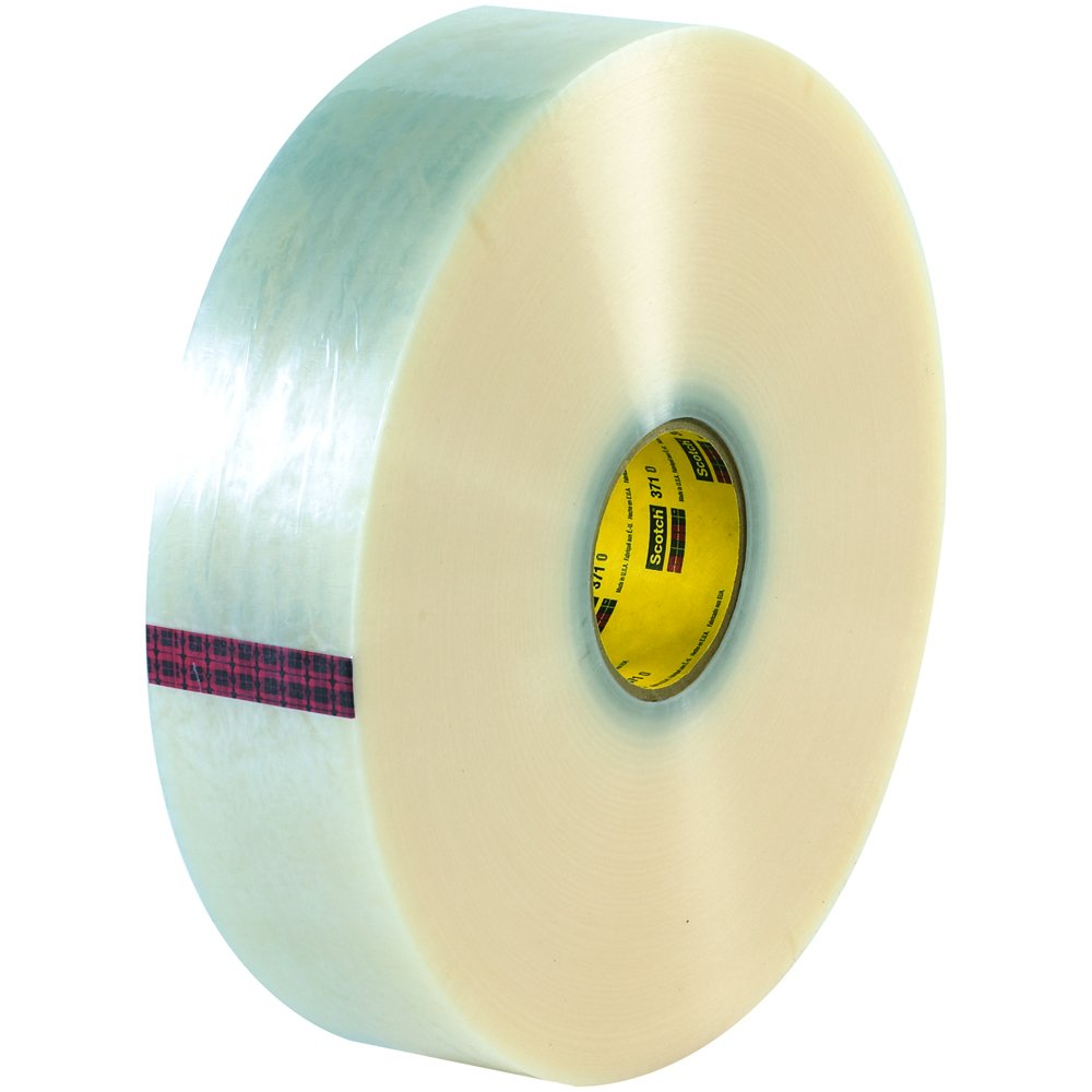 Scotch T903371 Carton Sealing Tape 2 x 1000 yd Pack of 6 Clear