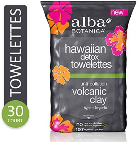 Facial Cleansing Wipes: Alba Botanica Hawaiian Detox Towelettes
