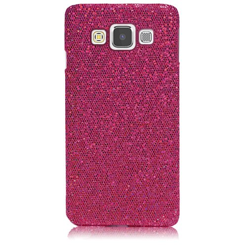Xtra-Funky Serie Samsung Galaxy A7 brillantes caso del brillo chispeante de lentejuelas del brillo - Púrpura Rosa