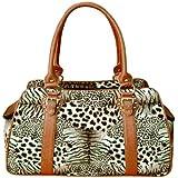 Backbone Faux Leather Pet Carrier, Leopard