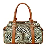 Cheap Backbone Faux Leather Pet Carrier, Leopard