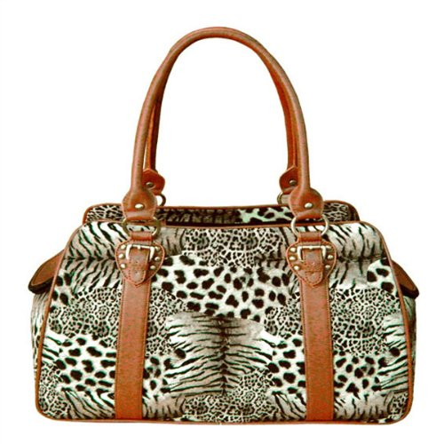 (Backbone Faux Leather Pet Carrier,)