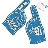 Bargain World School Spirit Blue Foam Hands (With Sticky Notes)