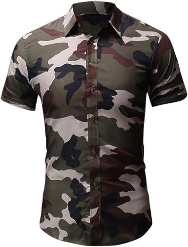 Camisa Militar de Manga Corta para Hombre - Verde - XXX-Large ...
