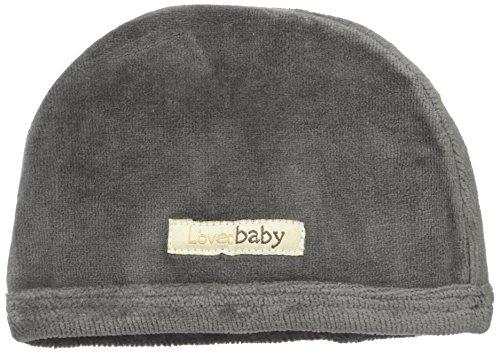L'ovedbaby Unisex-Baby Newborn Organic Cotton Velour Cute Cap, Gray, 0-3 Months