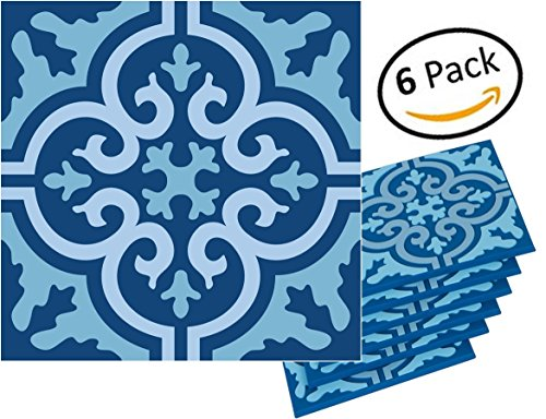 Planet Ethnic Soft PVC Moroccan Tile Designer Coaster Set (6 Coasters). 4 inch X 4 inch square design with 0.2 inch thickness.