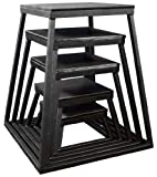 Ader Plyometric Platform Box 5 Pcs Set- 6'', 12'', 18'', 24'', 30'' Black