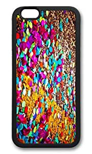 MOKSHOP Adorable colored confetti Soft Case Protective Shell Cell Phone Cover For Apple Iphone 6 Plus (5.5 Inch) - TPU Black