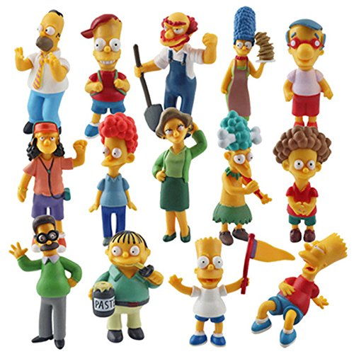 New Set of 14pcs The Simpsons Homer Simpsons Collection Figures Toys Dolls (Krusty Bobble Head)