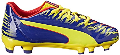 Puma Falcao 9 Firm Ground Jr Soccer Shoe (Infant/Toddler/Little Kid/Big Kid) Clematis Blue/Vibrant Yellow/Poppy Red