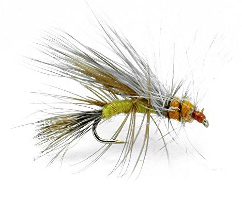 Feeder Creek Stimulator Yellow Trout Dry Trout Flies - Hand Tied - Sizes 12,14,16,18 Fly Pattern - One Dozen (12)