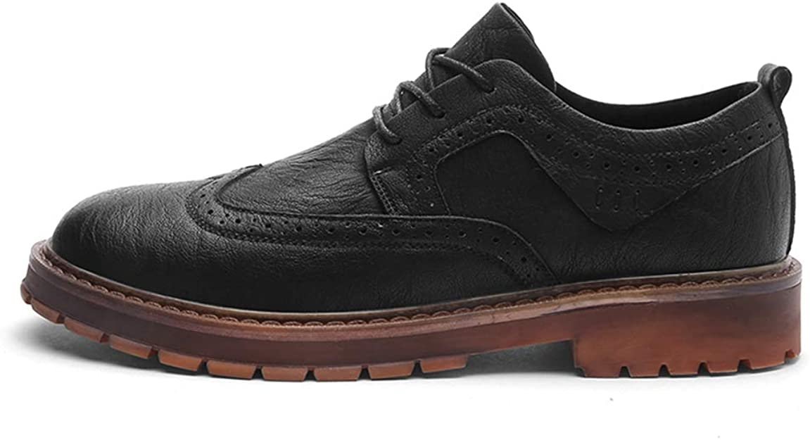MXL Mens Fashion Oxford Casual Comfortable Simple Carved Breathable Brogue Shoes Dress Shoes