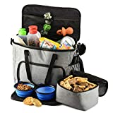 PETS GO2 Dog Travel Bag - Convenient Machine Washable Storage - Supply Tote for All Dog Sizes