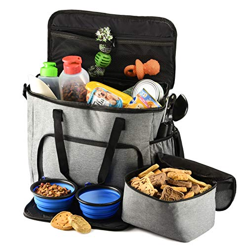 PETS GO2 Dog Travel Bag - Convenient Machine Washable Storage - Supply Tote for All Dog -