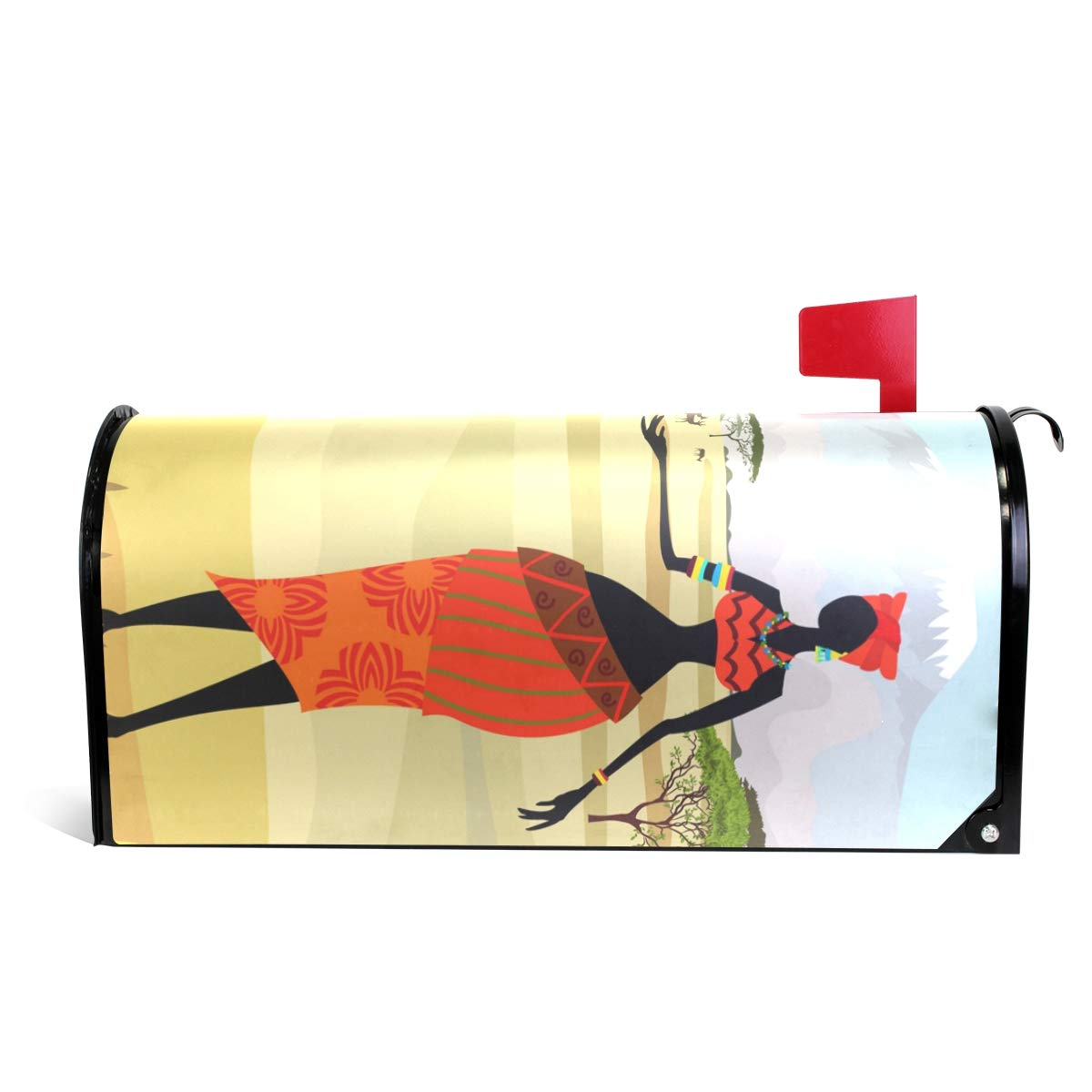 ALAZA African Women Magnetic Mailbox Cover Oversized-25.5'' x20.8''