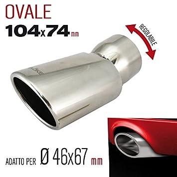 Evoke Terminal ovalado para tuberías Ø46 > 67 mm