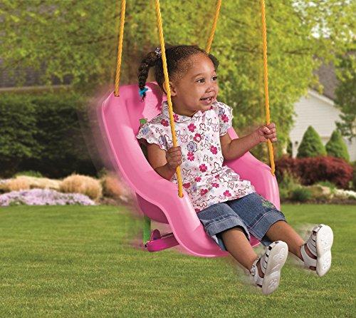 Little Tikes 2-in-1 Snug 'n Secure Swing, Pink by Little Tikes (Image #1)