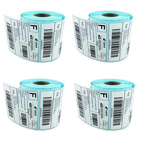 250 4x6 Direct Thermal Self Adhesive Perforated Blank Shipping Labels for Zebra 2844 Zp-450 Zp-500 Zp-505 - 2 Shipping Gap Day Free