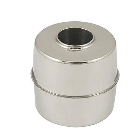 Sourcingmap a11051400ux0166 - Nivel de agua sensor magnético de acero inoxidable flotador 24mmx24mmx9.5mm