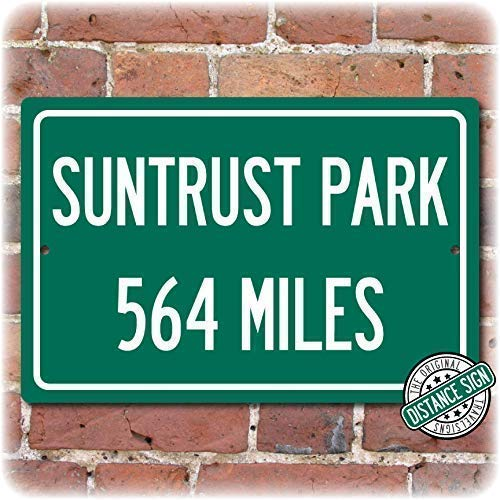 Personalized Highway Distance Sign To: SunTrust Park, Home of the Atlanta Braves (Highway Sign Atlanta)