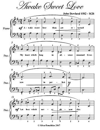 Awake Sweet Love Easy Piano Sheet Music - Kindle edition by
