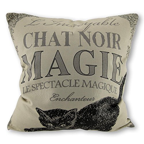 Bethany Lowe Black Cat Magic Decorative Throw Pillow 18in.